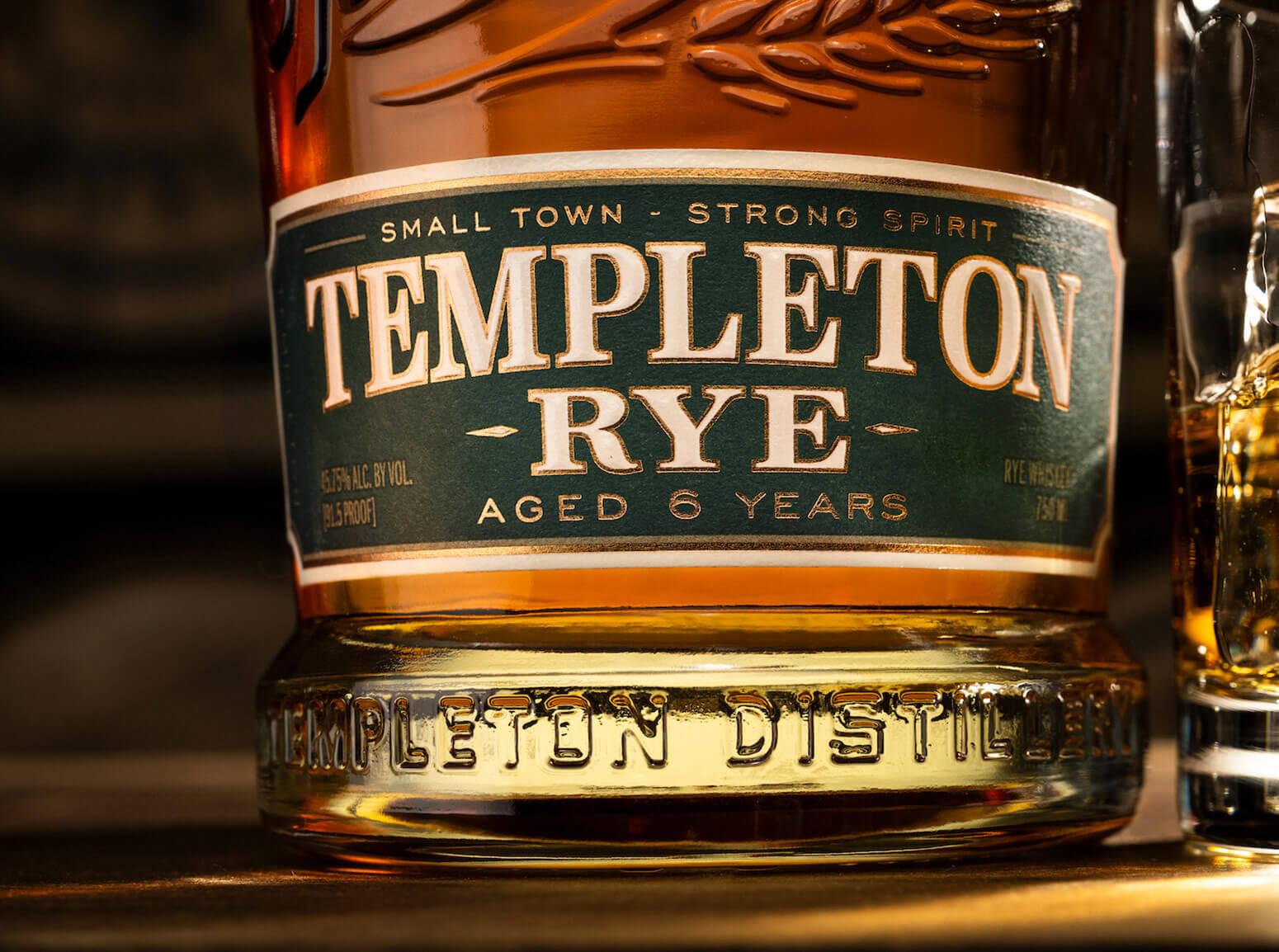 Templeton Rye 6 Year Label